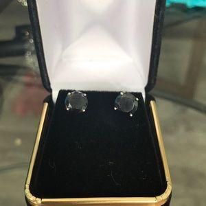Black diamond earrings 13 k white gold